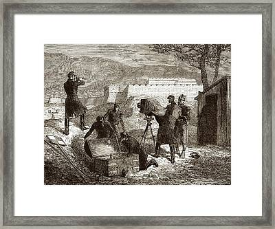19 Century Military Photography Framed Print by Sheila Terry