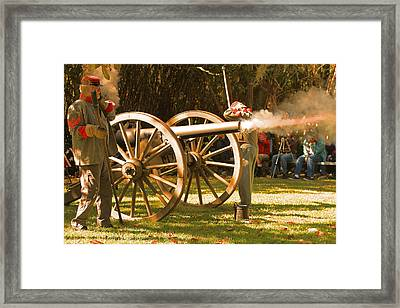 Cival War Reenactment At The Shadows On The Teche New Iberia Louisiana Framed Print