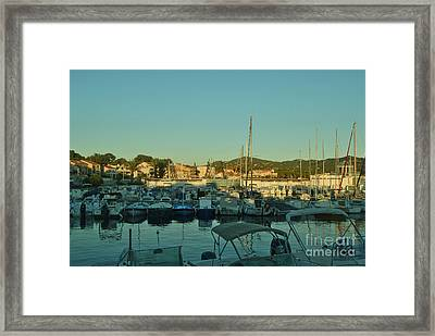 Beautiful Harbours At The French Riviera Framed Print