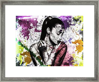 Demi Lovato Framed Print by Svelby Art