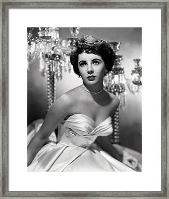 Elizabeth Taylor Framed Print by Silver Screen