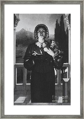 Florence Nightingale  English Nurse Framed Print by Science Source