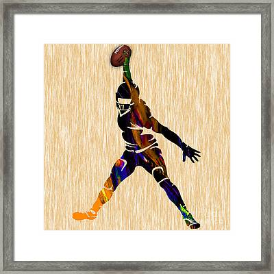 Football Framed Print by Marvin Blaine