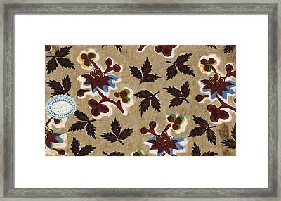 French Fabrics First Half Of The Nineteenth Century 1800 Framed Print
