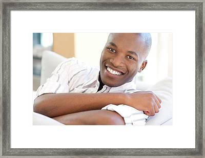 Happy Man Framed Print by Ian Hooton/science Photo Library