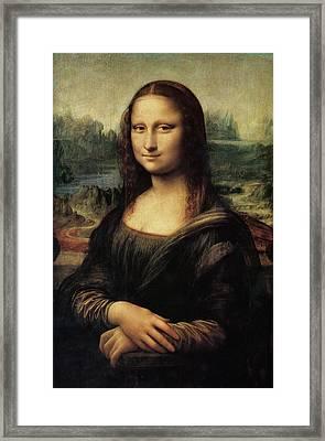 Mona Lisa Framed Print by Celestial Images
