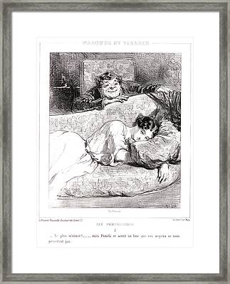 Paul Gavarni Aka Hippolyte-guillaume-sulpice Chevalier Framed Print by Litz Collection