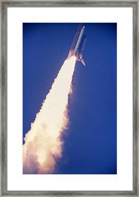 Space Shuttle Challenger  Framed Print