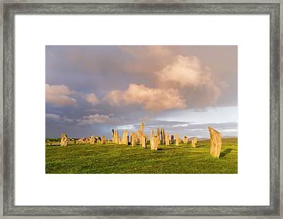 Standing Stones Of Callanish Framed Print by Martin Zwick