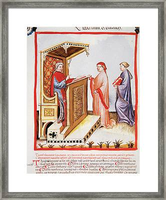 Tacuinum Sanitatis, Medieval Health Framed Print