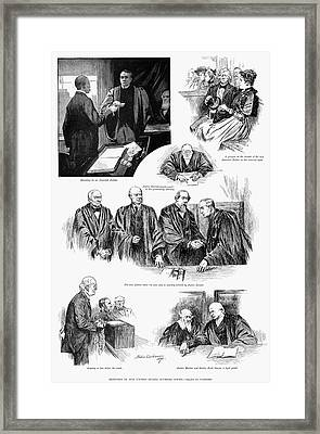 U.s. Supreme Court, 1891. Framed Print by Granger