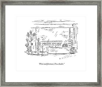 First And Foremost Framed Print