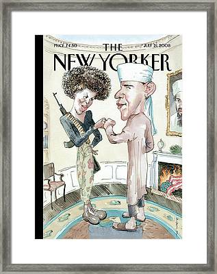 New Yorker July 21st, 2008 Framed Print by Barry Blitt