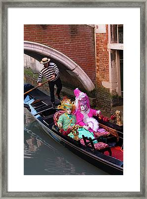 Venice At Carnival Time, Italy Framed Print