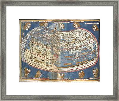 World Map Framed Print by British Library