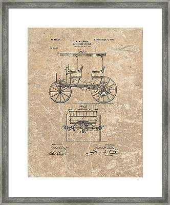 1900 Automobile Patent Framed Print by Dan Sproul