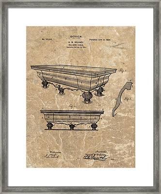 1900 Billiards Table Patent Framed Print
