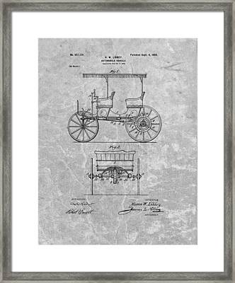 1900 First Automobile Patent Framed Print by Dan Sproul