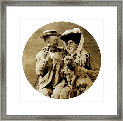 1900 Happy Young Couple Framed Print