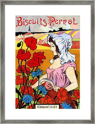 1900 Pernot Biscuits Framed Print