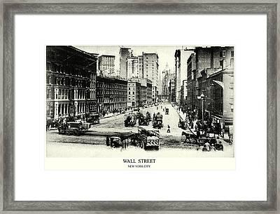 1900 Wall Street New York City Framed Print