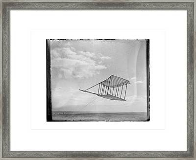 1900 Wright Brothers Glider Framed Print by MMG Archives
