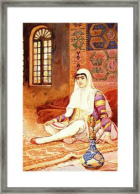 1900s 1902 Drawing Of A Persian Woman Framed Print