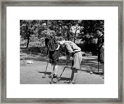 1900s 1909 Girls Wearing Bloomers While Framed Print