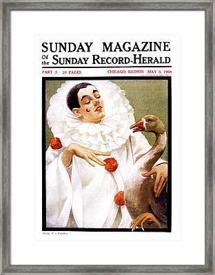 1900s Chicago Sunday Magazine Cover Framed Print
