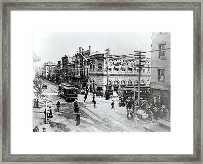 1900s Intersection Of Fair Oaks Framed Print