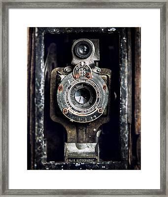 1900s Kodak Camera In Rusty Color  Framed Print by Lisa Russo