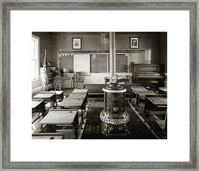 1900s Old Time Pioneer Classroom Framed Print