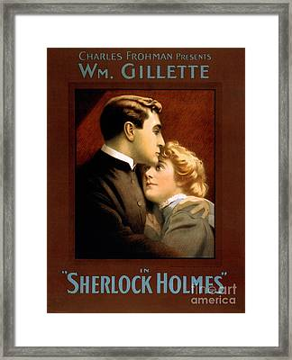 1900s Uk Sherlock Holmes Poster Framed Print by The Advertising Archives