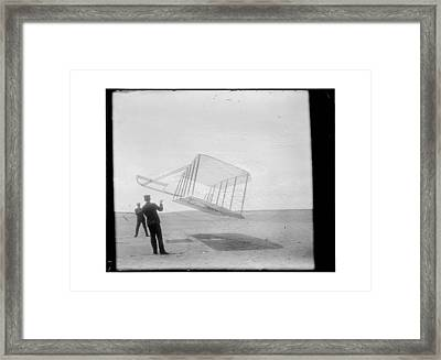 1901 Wright Brothers Glider Framed Print by MMG Archives