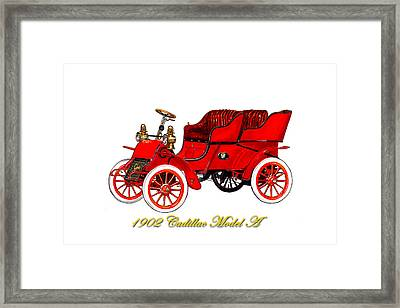 1902 Cadillac Model A Runabout Framed Print by Jack Pumphrey