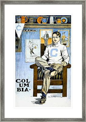 1902 - Columbia University Sports Poster - Color Framed Print