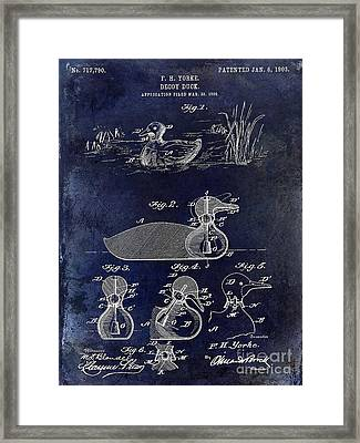 1902 Duck Decoy Patent Drawing Framed Print