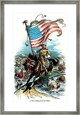 1902 Rough Rider Teddy Roosevelt Framed Print by Historic Image