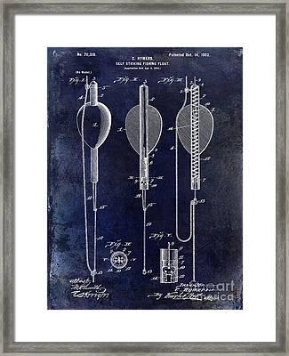 1902 Self Strike Fish Float Patent Framed Print by Jon Neidert