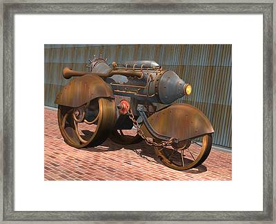 1902 Steam Trike Framed Print
