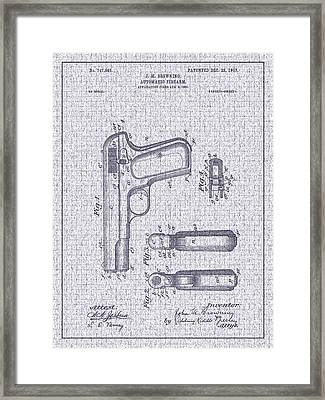 1903 Browning Automatic Pistol Patent Framed Print by Barry Jones