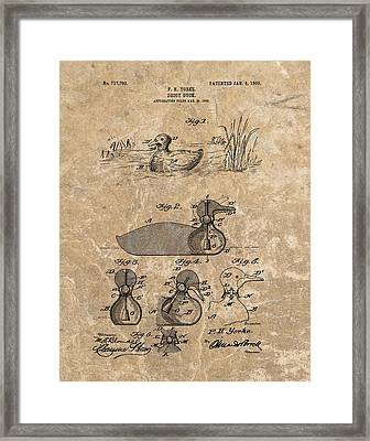 1903 Duck Decoy Patent Framed Print