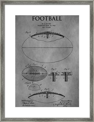 1903 Football Patent Framed Print by Dan Sproul