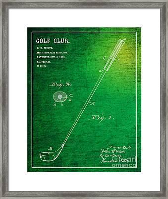 1903 Golf Club Patent Art Rollin H. White 1 Framed Print