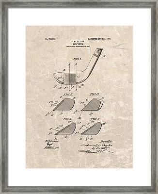 1903 Golf Club Patent Framed Print