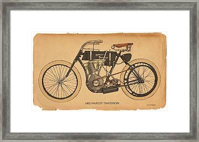 1903 Harley Davidson Framed Print by RG McMahon