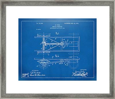 1903 Henry Ford Model T Patent Blueprint Framed Print by Nikki Marie Smith