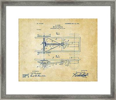 1903 Henry Ford Model T Patent Vintage Framed Print by Nikki Marie Smith