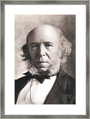 1903 Herbert Spencer Philosopher Old Age Framed Print