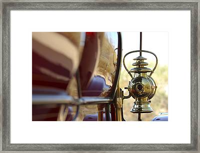 1903 Pope Hartford Model B 1 Cylinder 10 Hp 4 Passenger Dos Y Dos Chain Drive Lamp Framed Print by Jill Reger